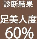 足美人度 60%