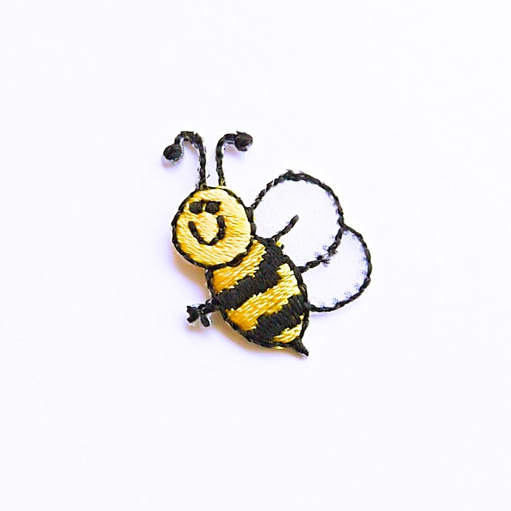 アイロンワッペン【みつばち 蜜蜂 honey】アメリカ製